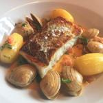 Cod, surf clams and barrel potatoes.