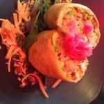 Pretty burrito, made me ill ):