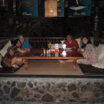 Family dinner in relaxing atmosphere