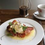 Egg(s) Benedict and Colombian Arabica Coffee - Yum!