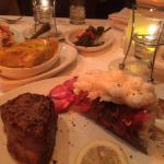 Steak and lobster for 2