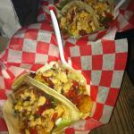 try the shrimp tacos!