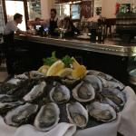 Amazing freshly shucked oysters at the bar, $20 a dozen!