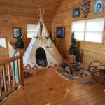 tepee with double bed