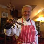 Our lovely chef Terry Mc Coy. A wonderful b&b and most lush restaurant. Strongly advised to try