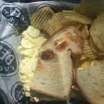 Weird egg salad sandwich