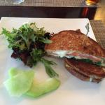 J's Grilled Cheese with avocado, arugula, and tomato off lunch menu. $11