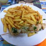 Brochette de Lambris, frites