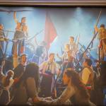 """Enlarged photo of """" Les Miz """" hanged on the wall inside Capital Theatre, Sydney"""