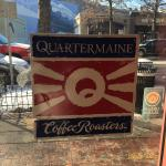 Coffee sign in window