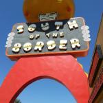 You can't miss it - under the giant Sombrero