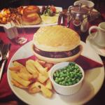 grilled beef and fish pie