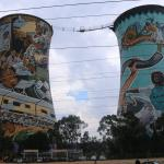 Famous cooling tower art in Soweto