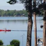 Canoes at Lake Ripley Lodge