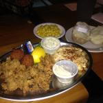 Oysters and crab cake combo