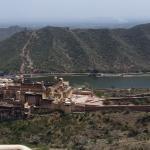 Die Aussicht auf Amber Fort