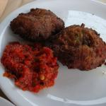 Zucchini croquette with harrissa (comes with 4, we ate 2)