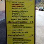Cartel menú