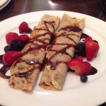 Nutella crepes with fresh berries. Very good