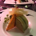 Entremet d'Avocat et Crabe au Piment d'Espelette, et Pamplemousse Chinois