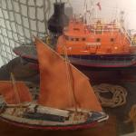 Model of ancient and modern lifeboats