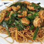 Chow meing de camarones