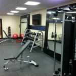 Great new exercise space in basement