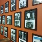 Photos dating from the mid 40s to the present line the walls