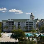 panoramic view of  the Grande Villas and the World hall of golf