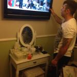 Big tv with freeview in the room & lovely dressing table