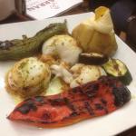 Seiches à la Plancha, légumes grillés en aïoli