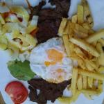Great steak and eggs