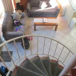 View of lounge room from the top of the stairs