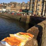 Oban, with excellent lunch of fish and chips