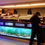 Interior com aquário