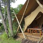 Mara Toto Camp, Kenya - Guest tent exterior with view of river