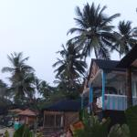 beach front huts