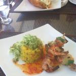 Prawn kebab for lunch