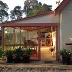 Kabminye Wines new cellar door in the side verandah of the house