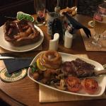 sizzling steak!