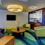Relax in our Lobby Lounge at the SpringHill Suites Boca Raton.