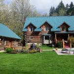 Set in a forested area with mountain views