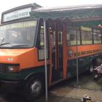 Just had fish and chips in Ma Pollards Bus