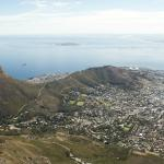View from Table Mountain towards Cape Town Stadium.