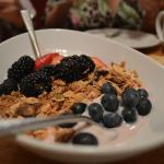 Frutas Vermelhas com Yogurt