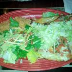 Two beef taco platter with Caesar Salad.  YUMMY!