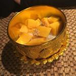 Mango coconut milk desert, very good