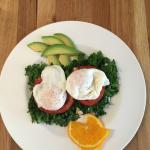 Organic Poached Eggs with Spinach