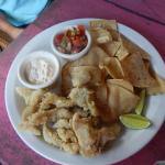 Lion fish and chips