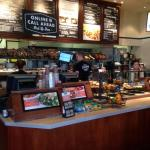 Another view of service area of the Corner Bakery with pastries on display